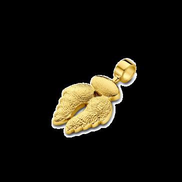 pendant, anhänger, hanger, fingerprint, fingerabdrück, vingerafdruk, angel, 3, gold, goud, yellow,