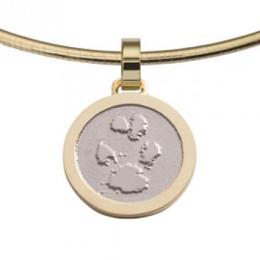 jewel, Schmuck, sieraad, pendant, anhänger, hanger, pawprint pet, pootafdruk huisdier, adore, gold, goud, white, yellow,