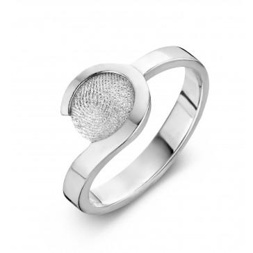 ring, fingerprint, fingerabdrück, vingeradruk, allure, gold, goud, white, wit,