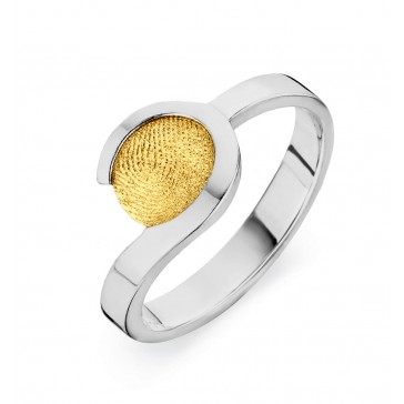 ring, fingerprint, fingerabdrück, vingeradruk, allure, gold, goud, yellow, white,
