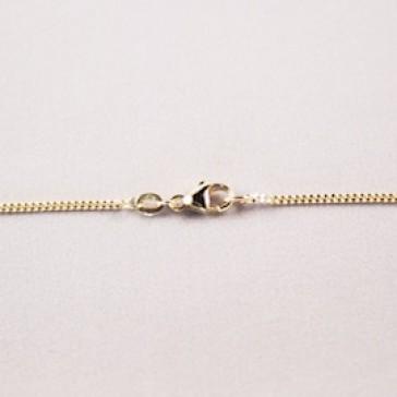 chain, ketting, kette, gourmet, 1.3mm, gold, yellow, goud, geel,