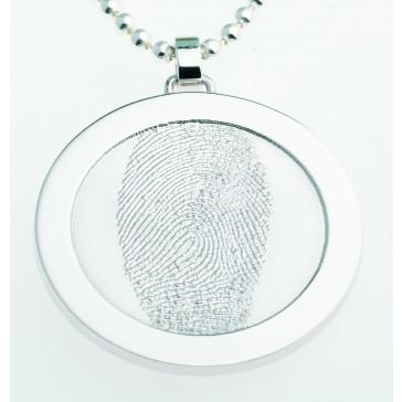 Coin L Silber 35 mm mit Öse