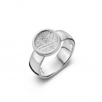 ring, fingerprint, fingerabdrück, vingerafdruk, bliss 1, gold, goud, white, wit,