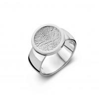 ring, fingerprint, fingerabdrück, vingeradruk, bliss 2, silver, silber, zilver,