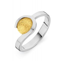 ring, fingerprint, fingerabdrück, vingeradruk, allure, gold, goud, yellow, white,