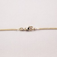 chain, ketting, kette, gourmet, 1.5mm, gold, white, goud, wit,