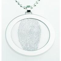 Coin L Silber 27 mm mit Öse